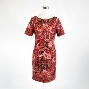 Talbots red sheath dress 4